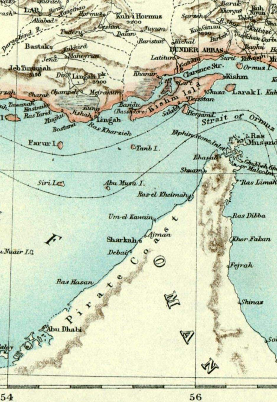 Strait of Hormuz large map