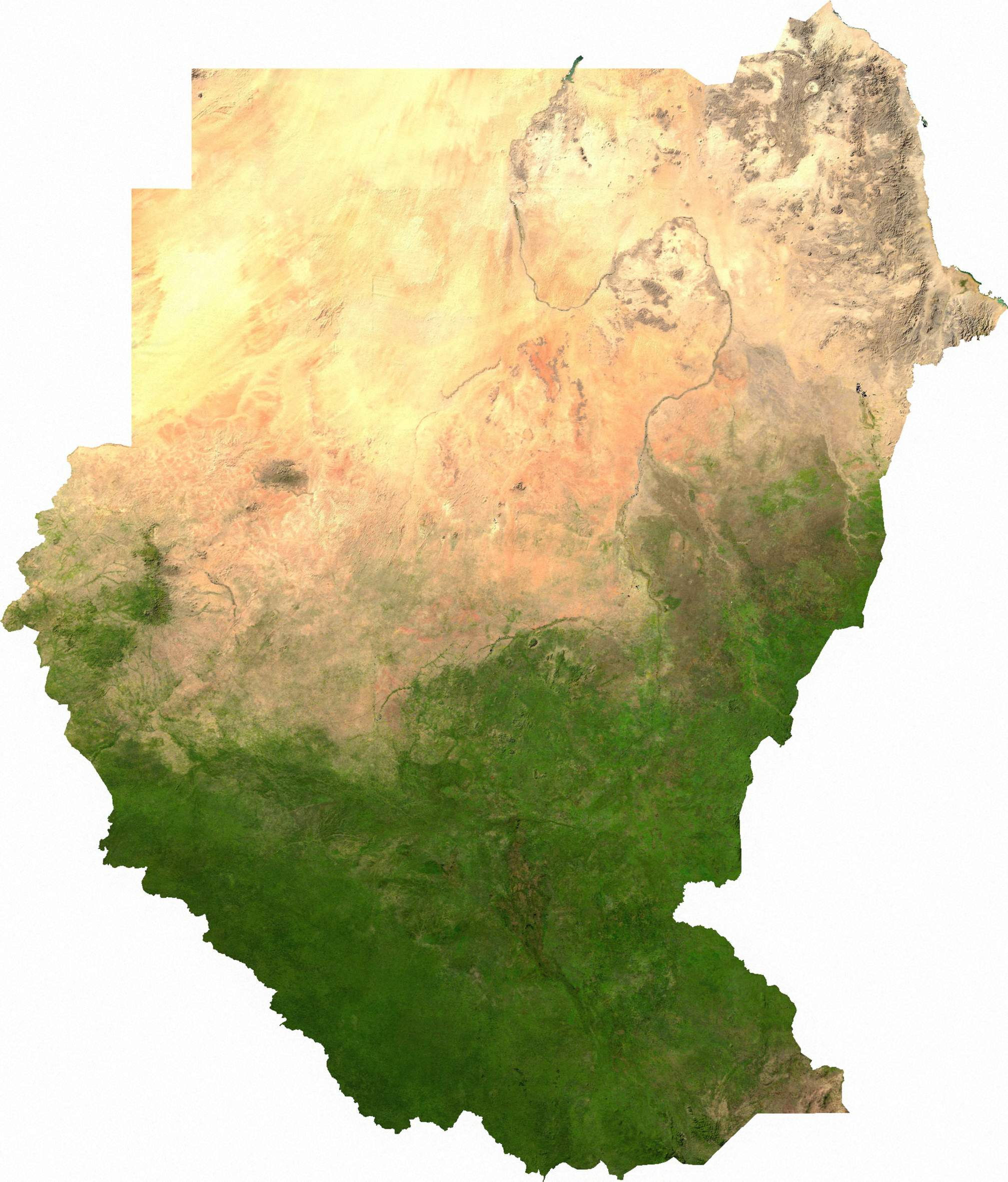 Sudan Sat large map