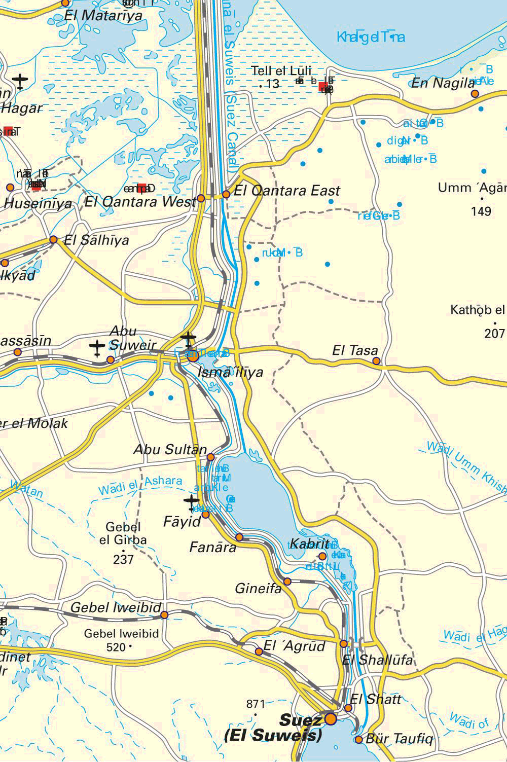 Suez canal map 1 mapsof click on the suez canal map 1 gumiabroncs Image collections