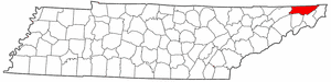 Sullivan County Tennessee large map