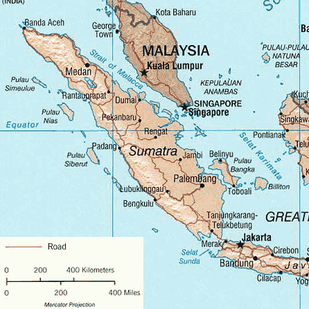 Sumatra large map