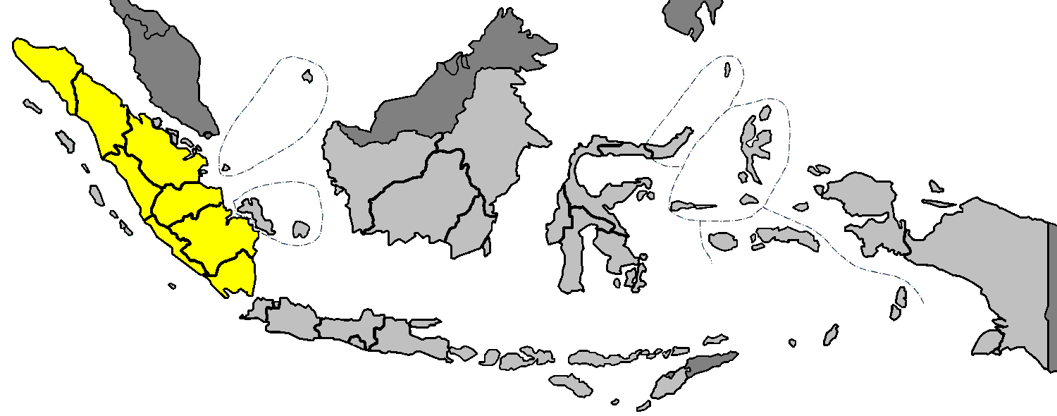 Sumatra In Indonesia large map
