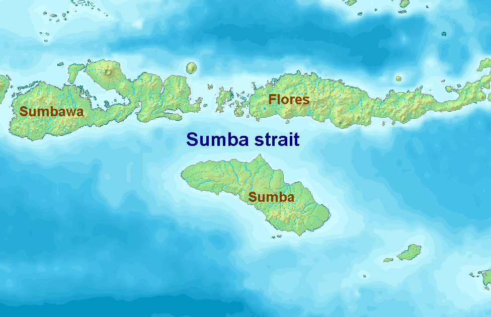 Sumba Strait large map