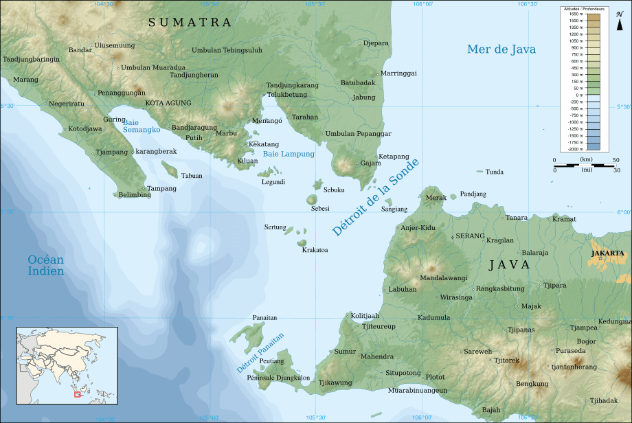 Sunda Strait Map Fr large map