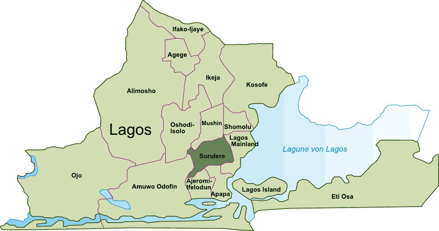 Surulere large map