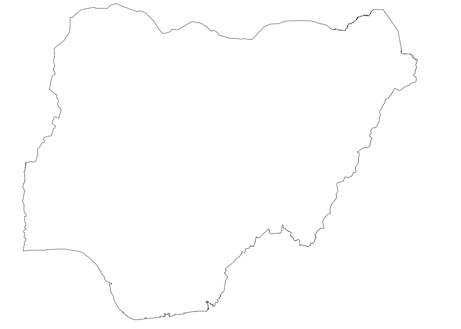 Svg Koort Nigeria large map