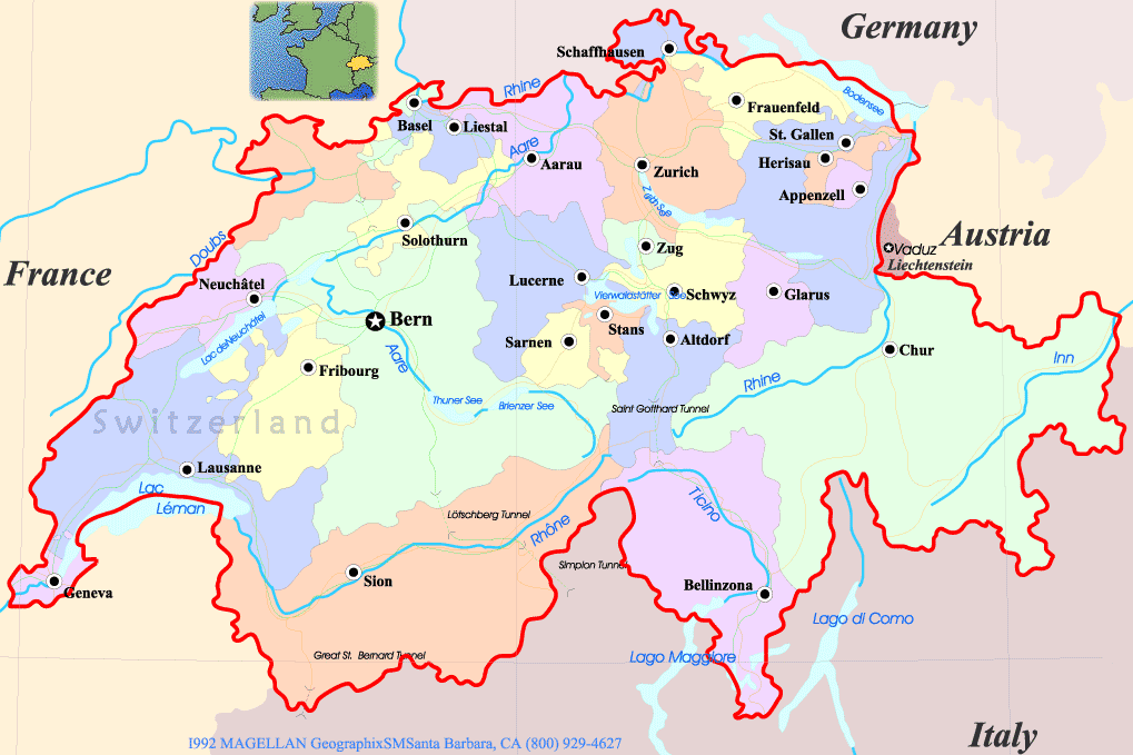 Map of Canton Zurich Mapsofnet