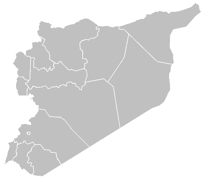 Syria Blank Governorates large map