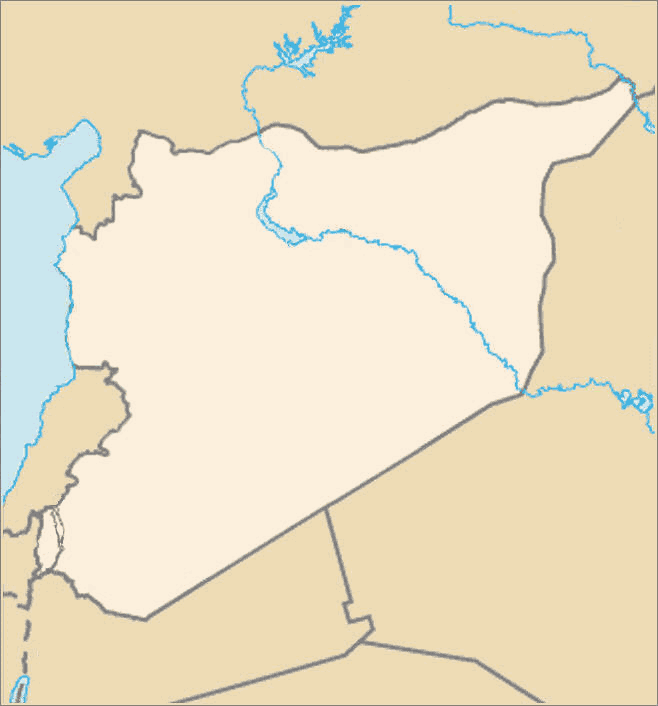 Syria Map Blank large map