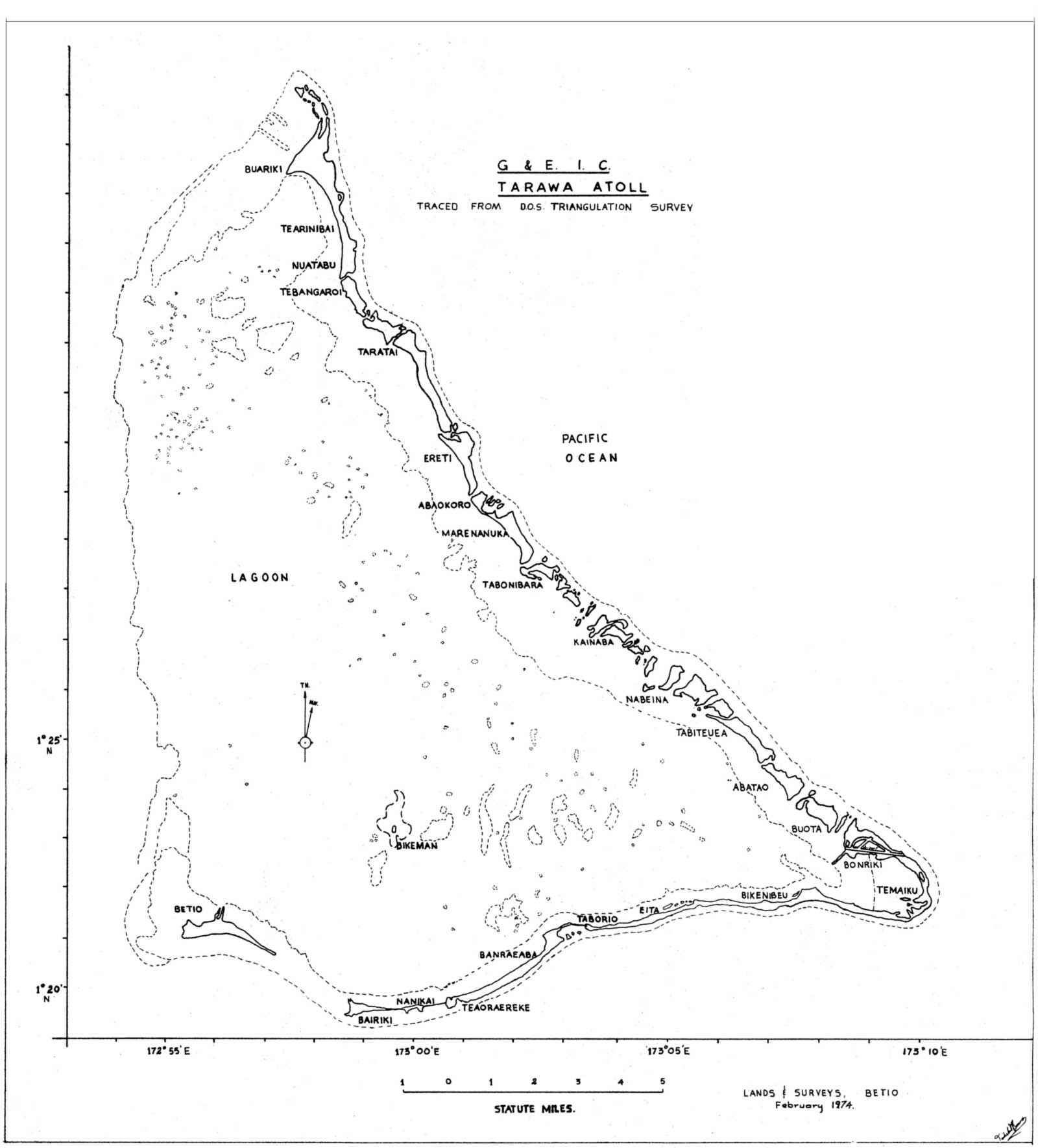 Tarawa Map - Mapsof.net Tarawa Map