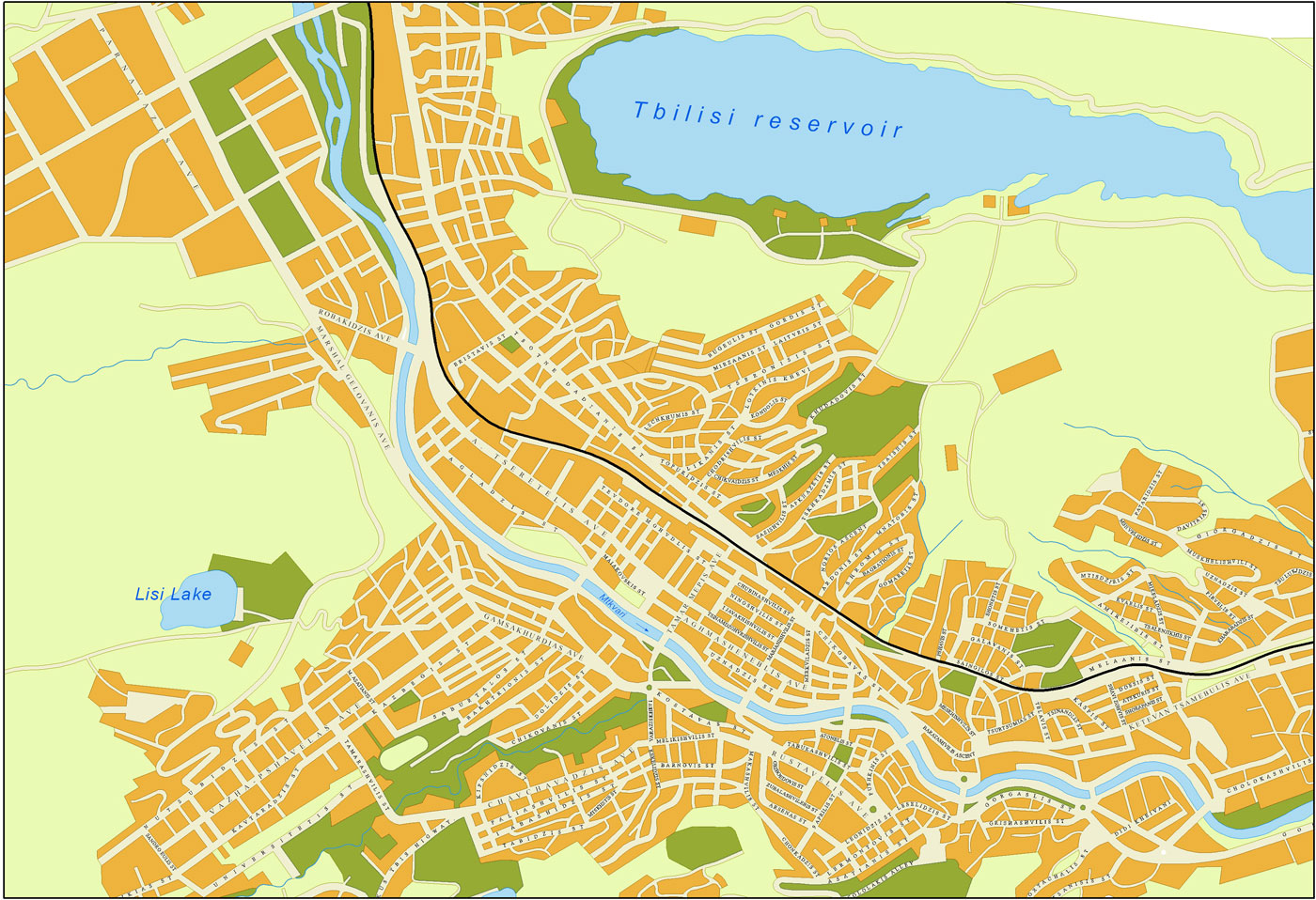 Tbilisi Detailed Map 1
