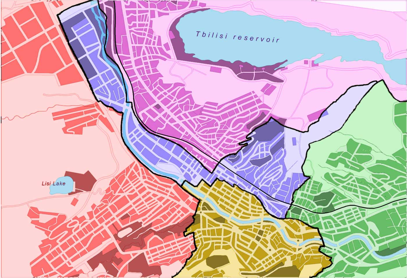 Tbilisi Detailed Map New