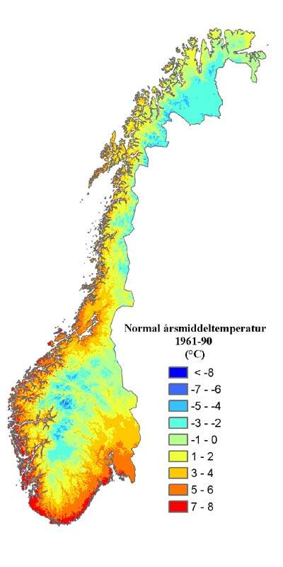 Temp Normal Norway large map