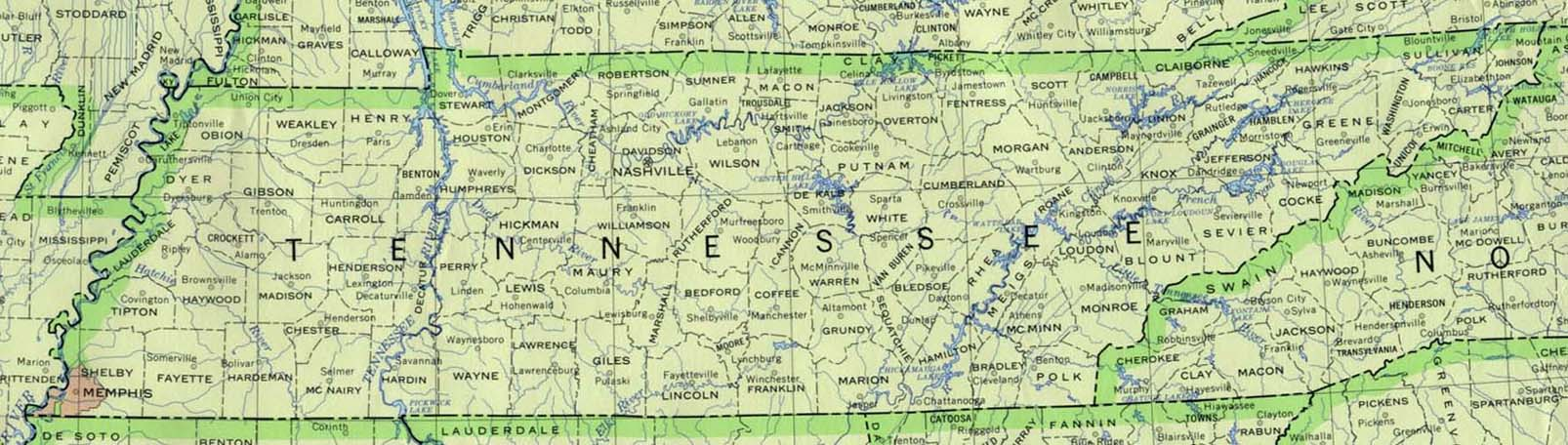 Tennessee 90 large map