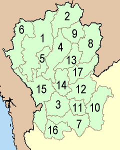 Thailand North Numbered large map