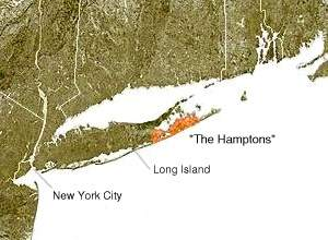 The Hamptons large map