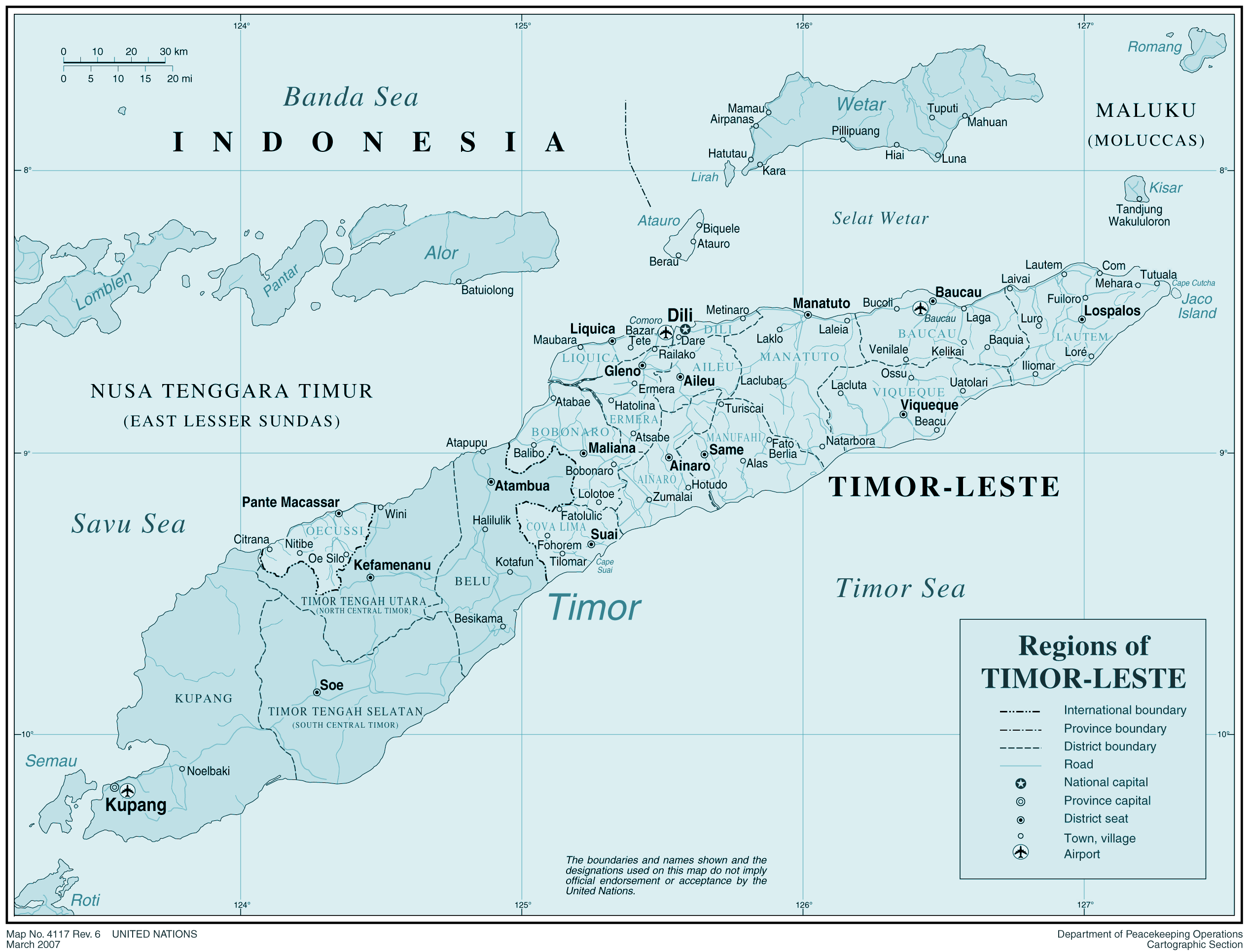 Timor Leste 1 large map