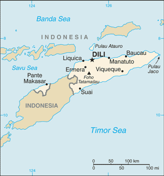 Timor Leste Cia Wfb Map large map