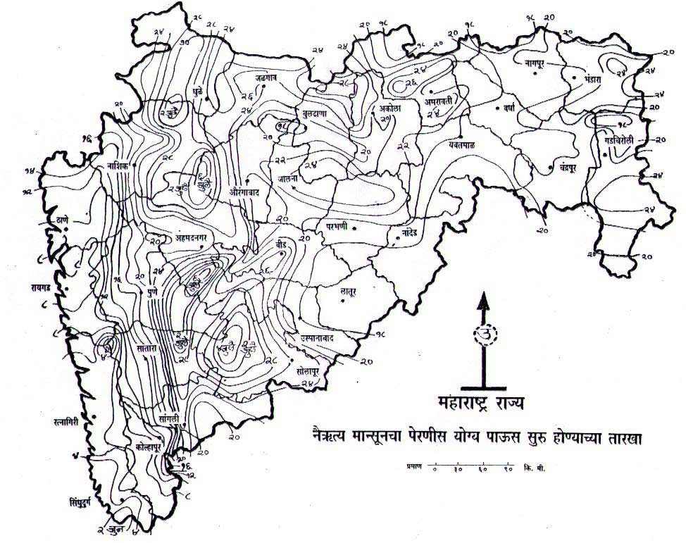 Topographic Map of Maharashtra