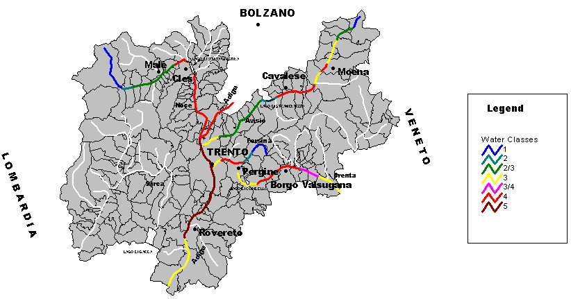 Topographic Map of Trento large map