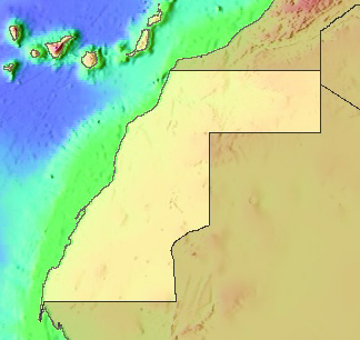 Topology Map of Wester Sahara large map