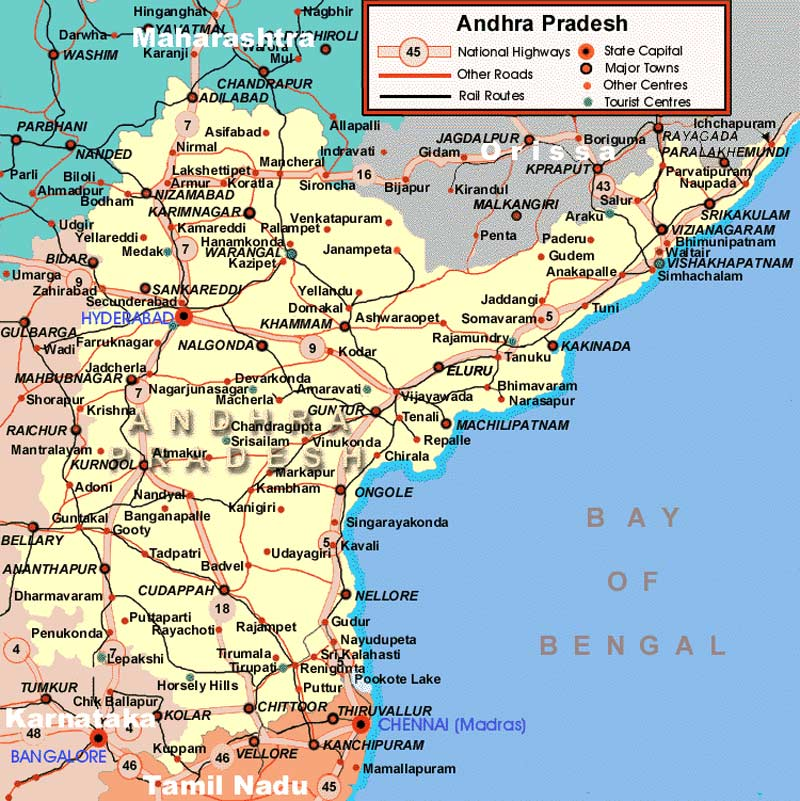 Transport Map of Andhra Pradesh
