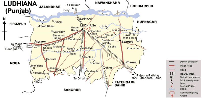 Transport Map of Ludhiana Mapsofnet