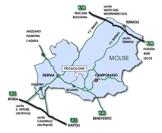 Transport Map of Molise large map
