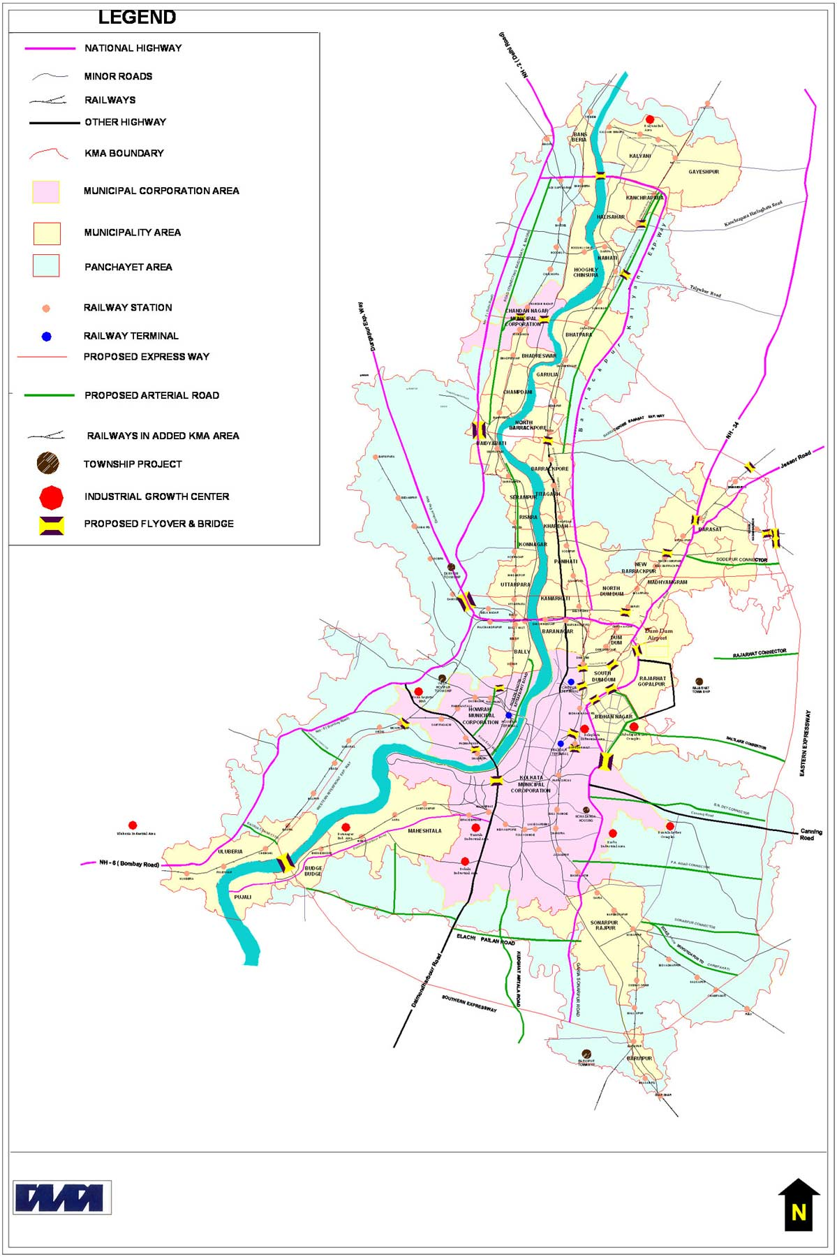 Transport Map of West Bengal large map