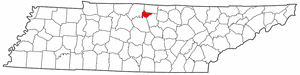 Trousdale County Tennessee large map