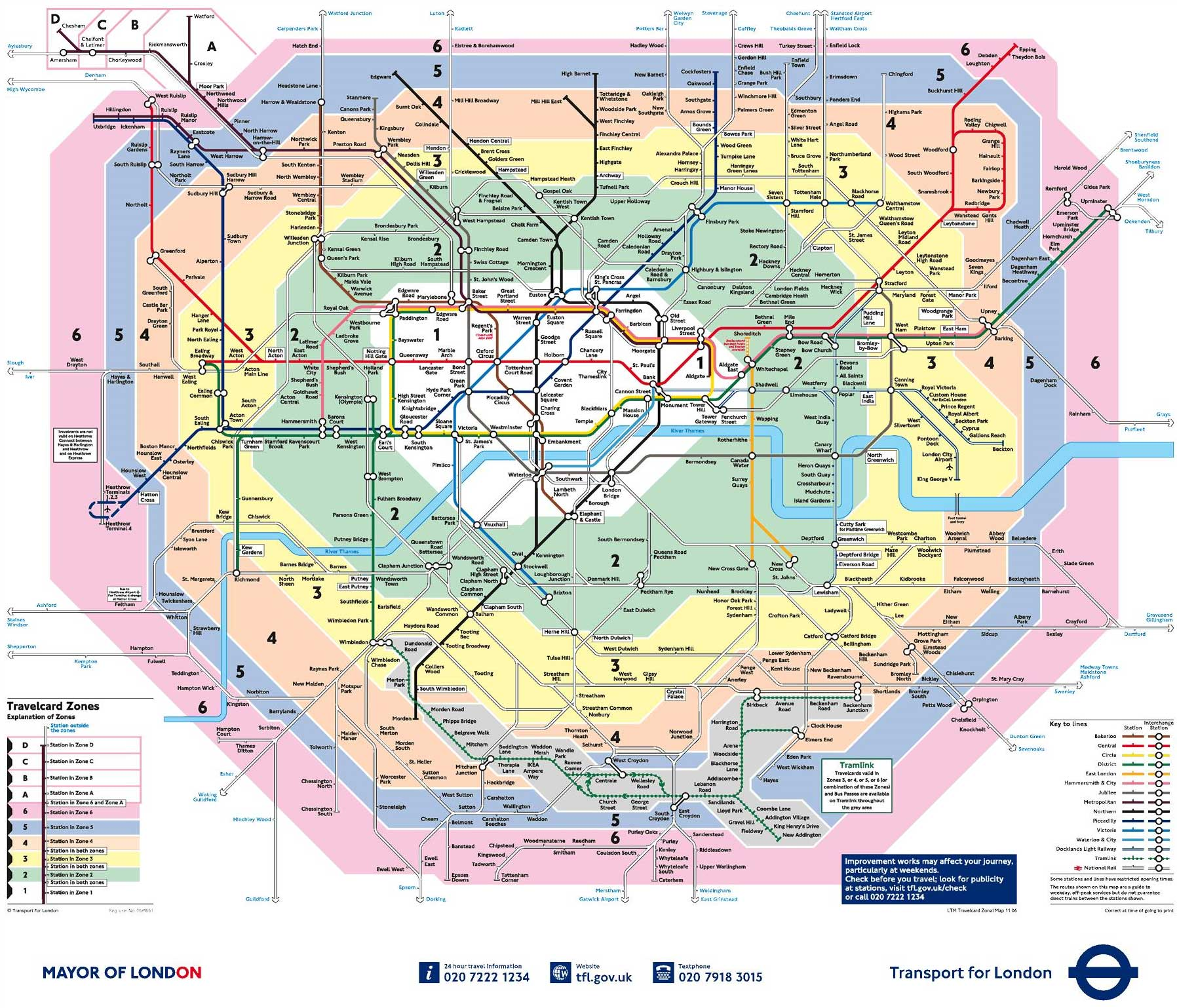 tube map of london london maps