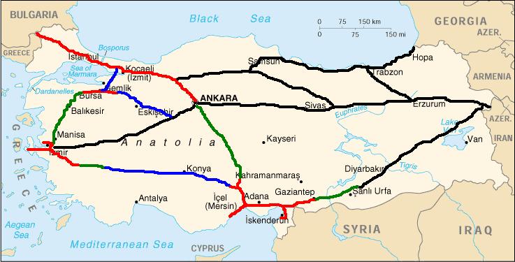 Tuerkei Autobahn Mapsof Net