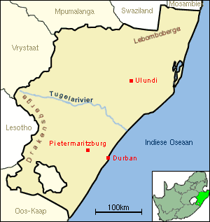 Tugela large map