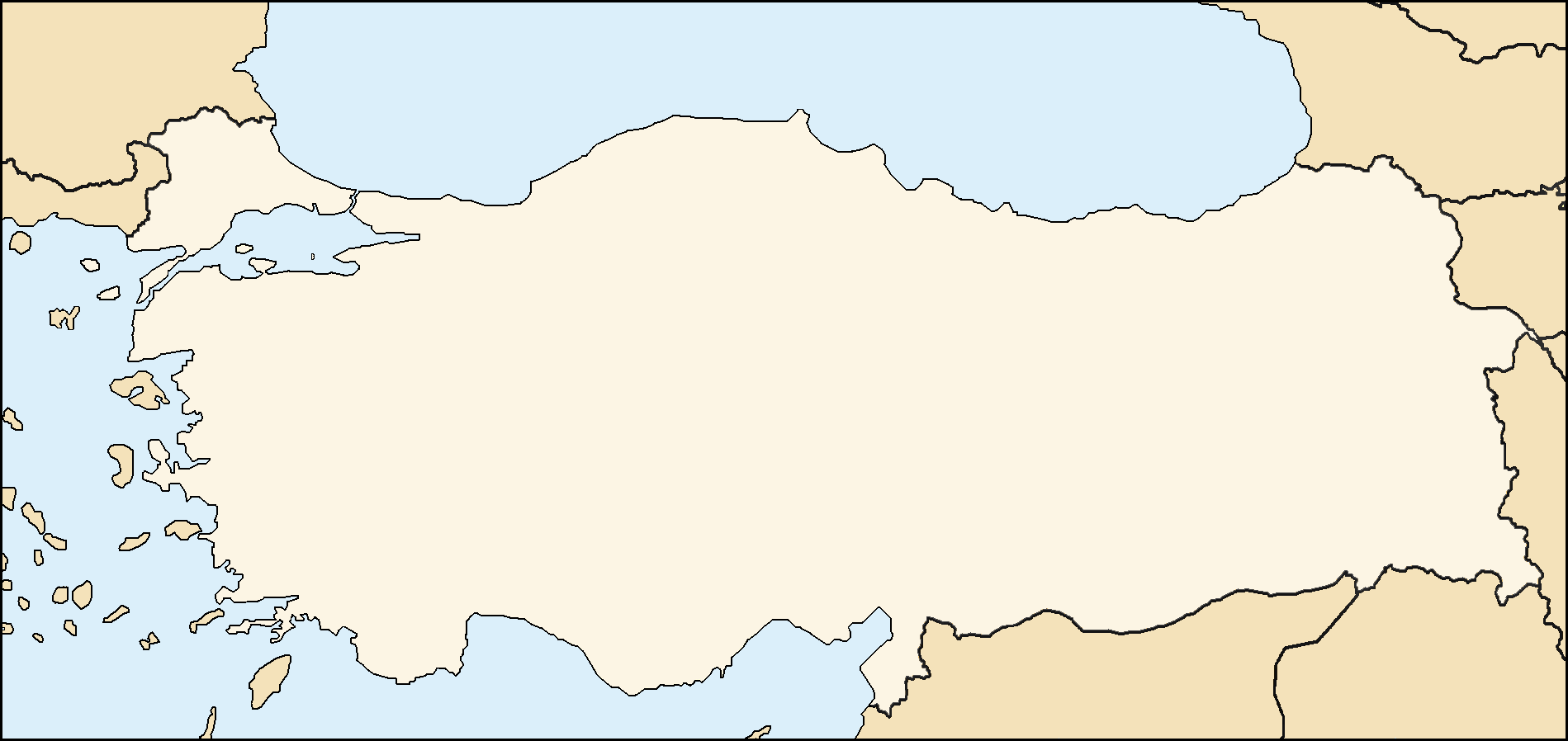Turkey Map Modern Mapsofnet - Turkey map
