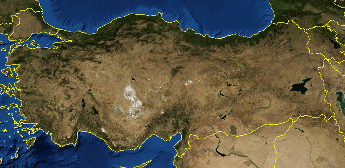Turkey Mountains large map