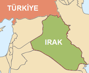 Turkiye Ve Irak Haritasi 1 large map