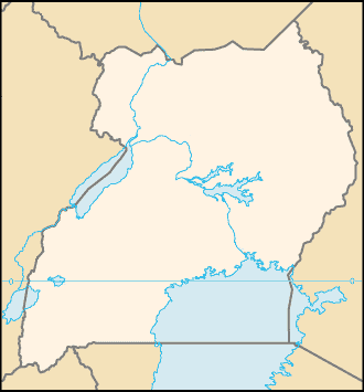 Uganda Locator large map