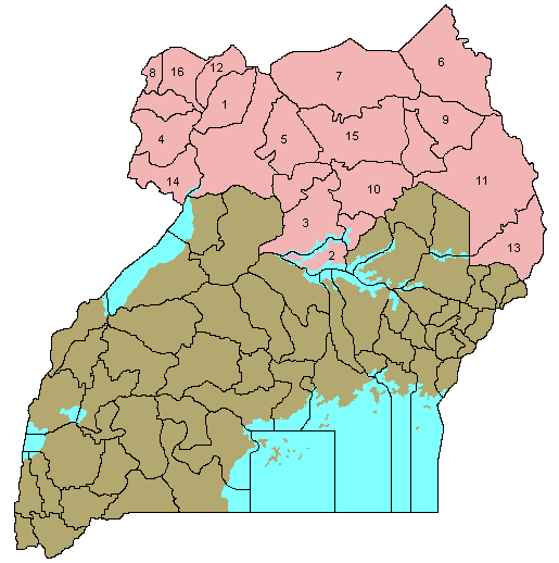 Ugandanorthernnumbered large map