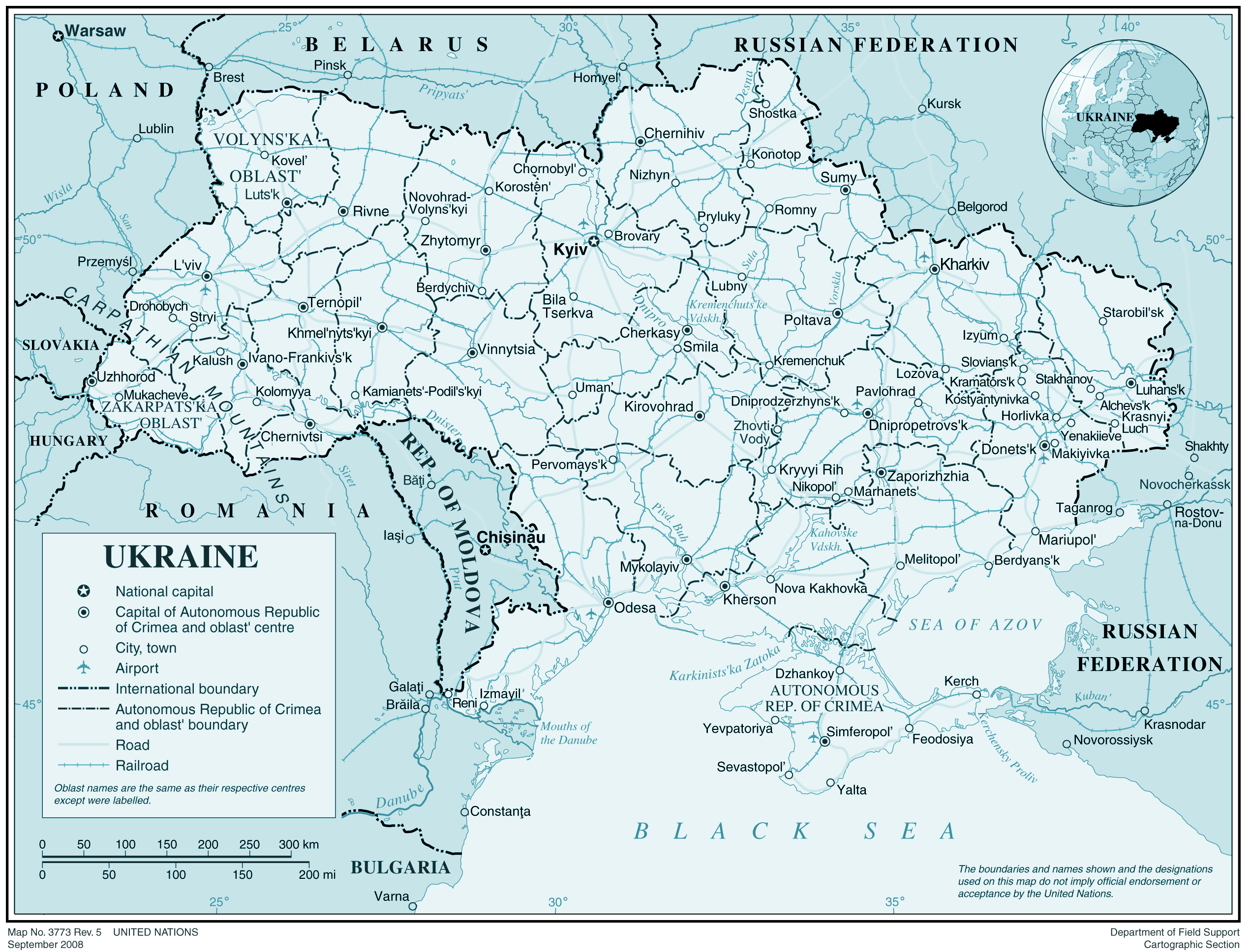 Ukraine large map