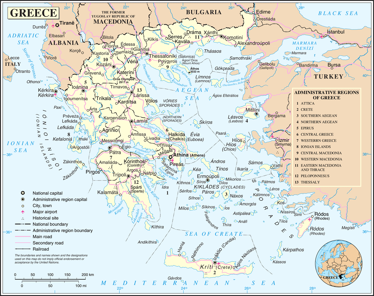 Un Greece large map