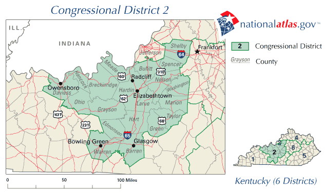 United States House of Representatives, Kentucky District 2 ... on map of kentucky scottsville, map of kentucky berea, map of kentucky london, map of kentucky ashland, map of kentucky murray, map of kentucky paducah, map of kentucky paris, map of kentucky derby, map of kentucky lexington, map of kentucky owensboro, map of kentucky richmond,
