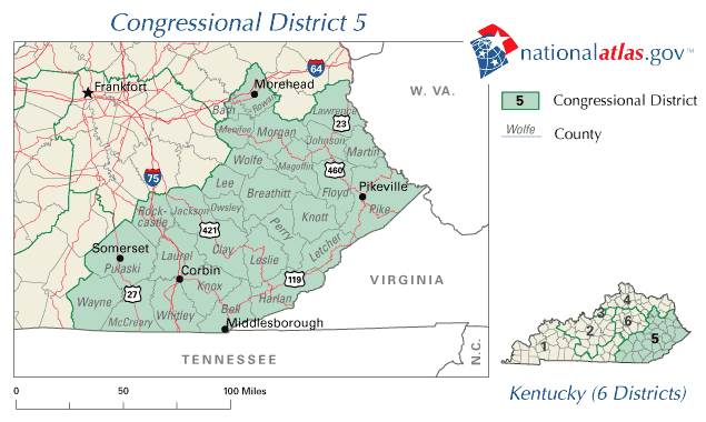 United States Map Kentucky