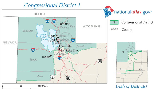 United States House of Representatives, Utah District 1 Map ...
