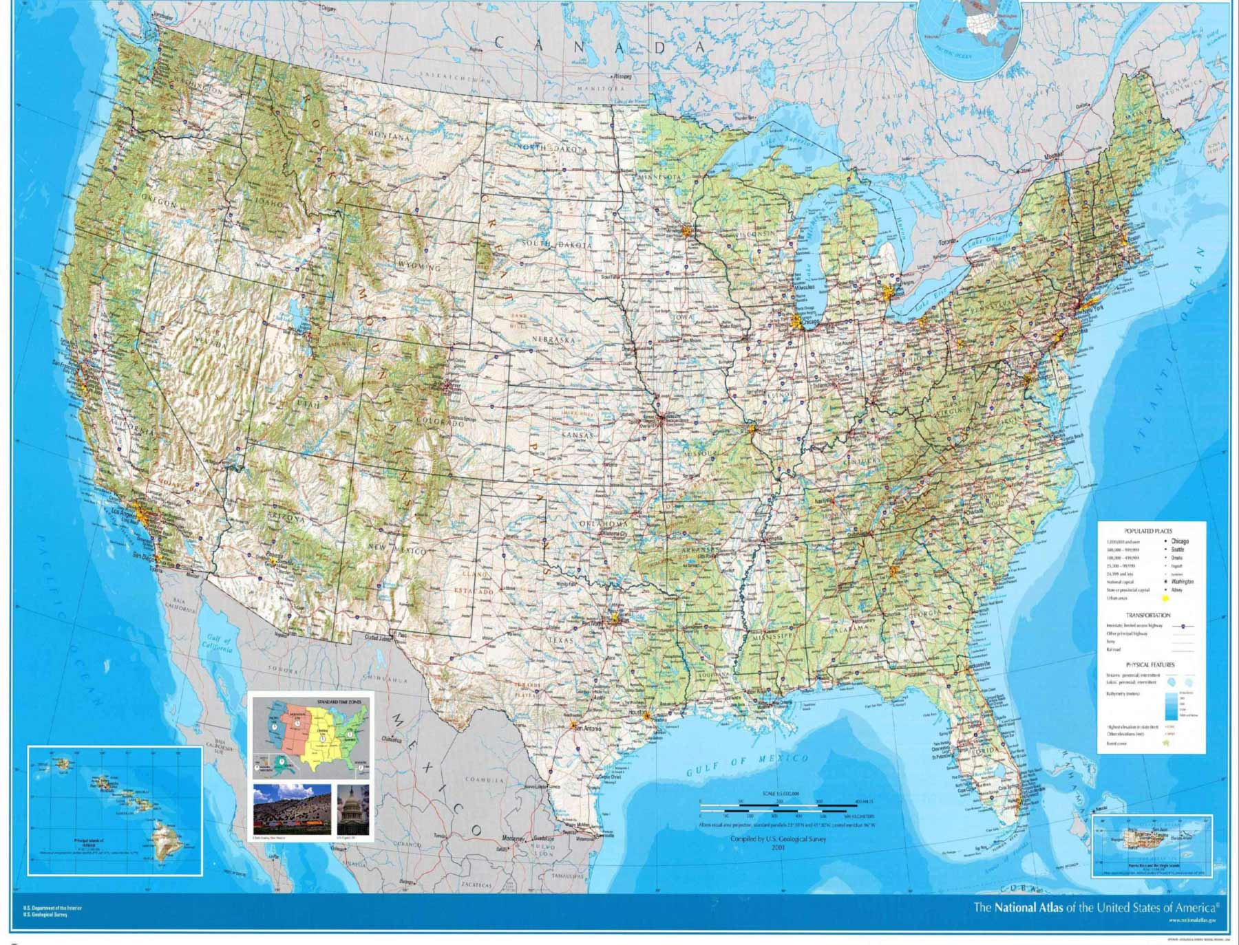 United States Wall Map Us Mapsofnet - Large us wall map