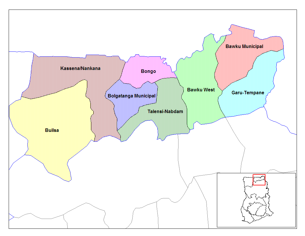 Upper East Ghana Districts