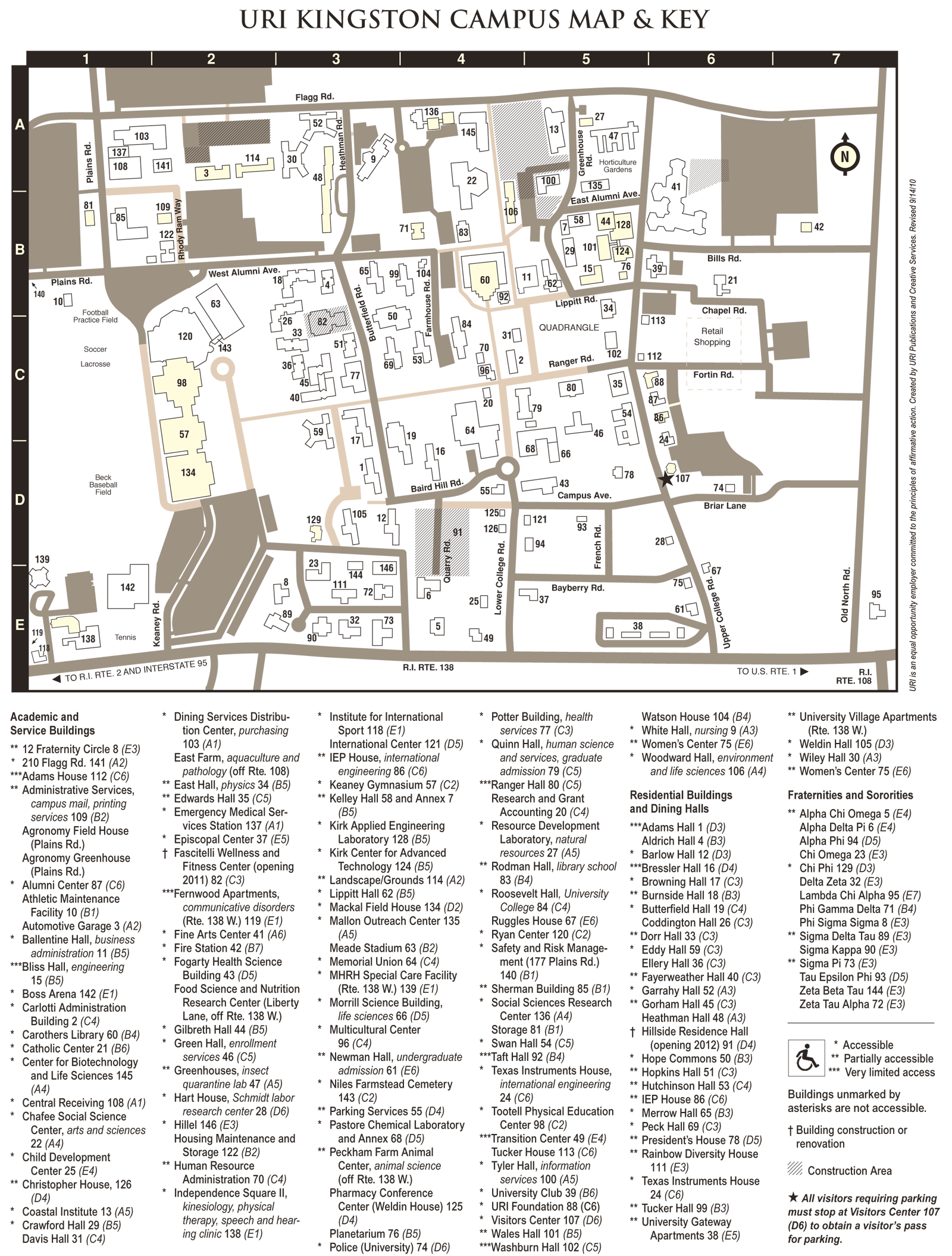 Uri Kingston Campus Map Mapsof Net