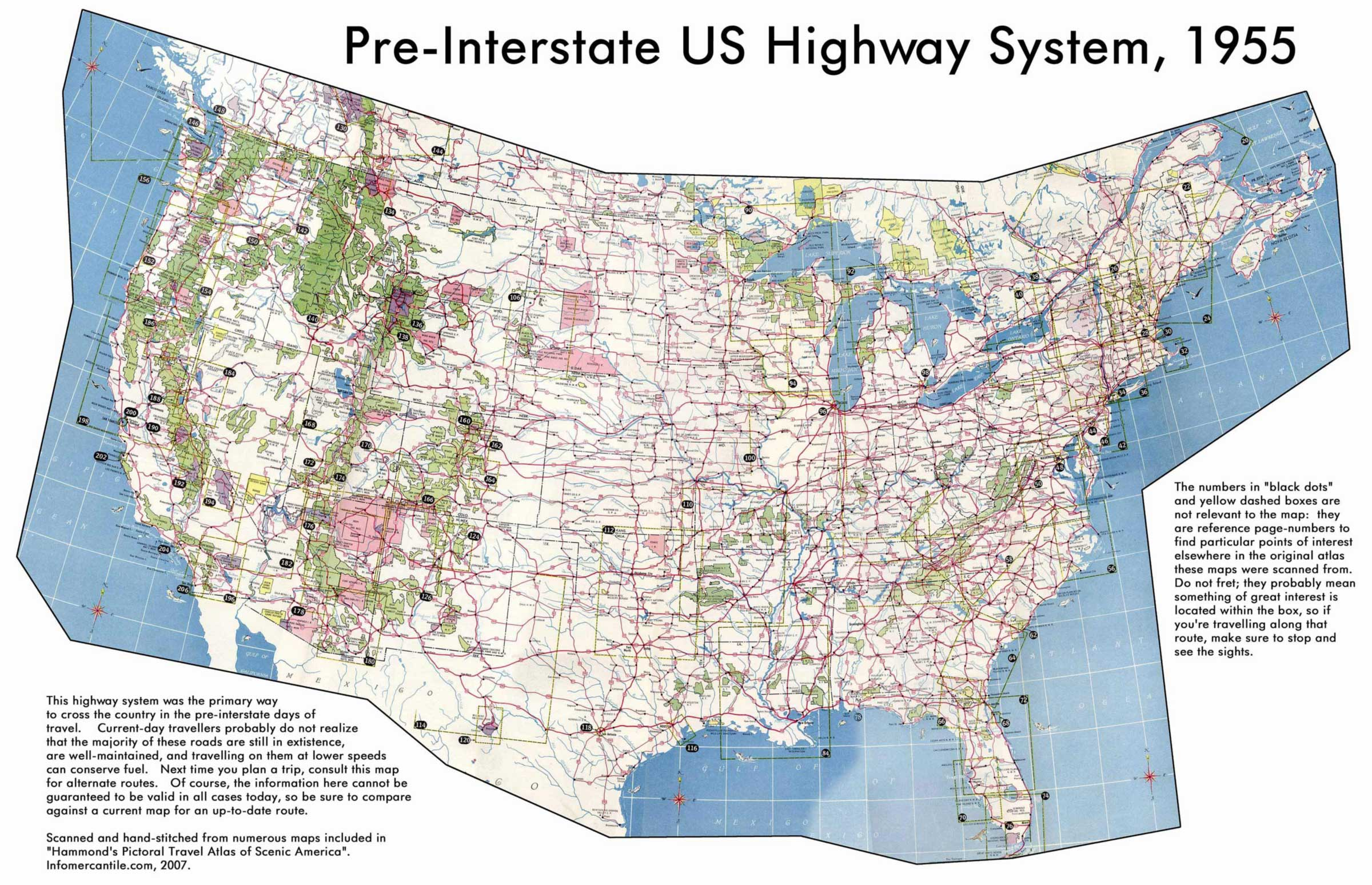 Us Highway Map Mapsof Net