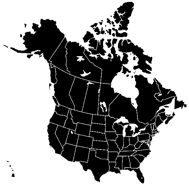 Usa Canada Silhouette Transbg Mapsofnet - Canada and usa map