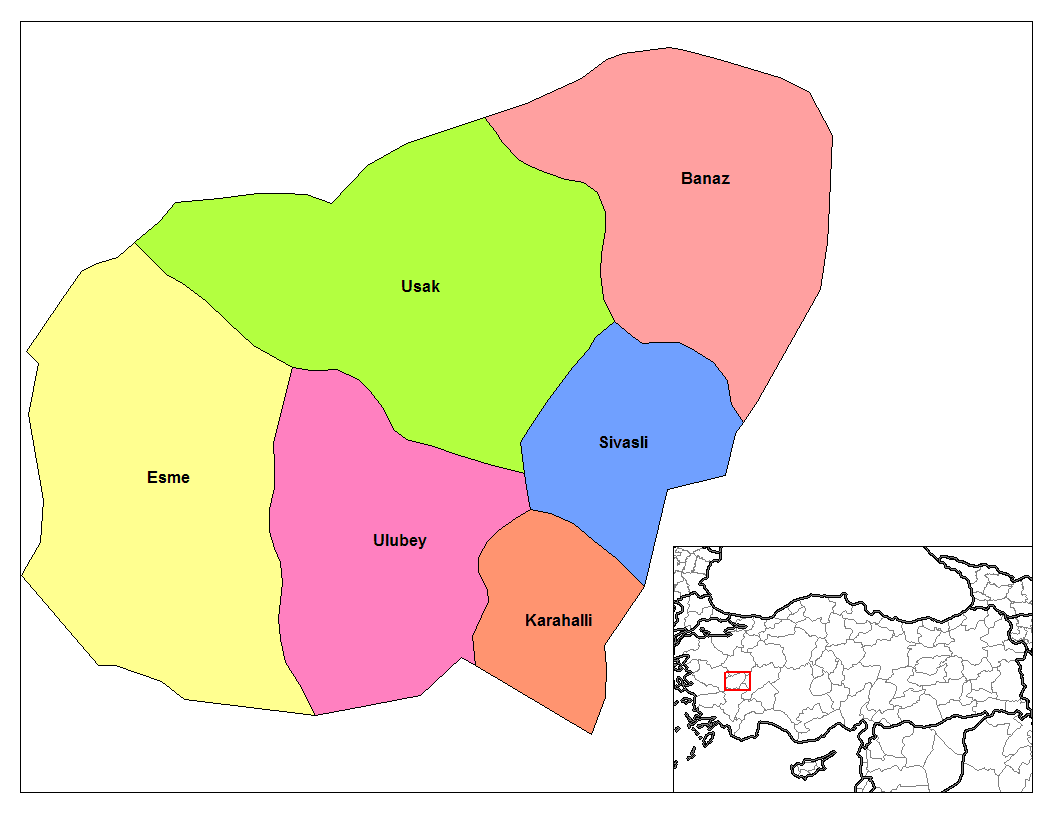 Usak Districts