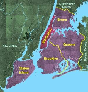 Usgs Photo Five Boroughs Manhattan large map